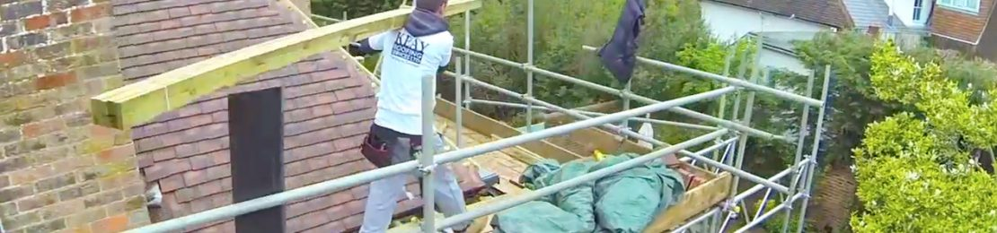 roofer on scaffolding