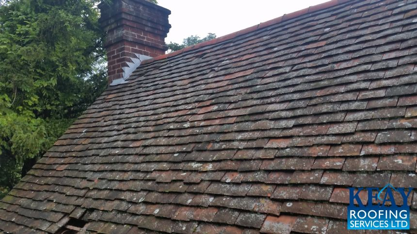 Old roofing tiles in need of replacement