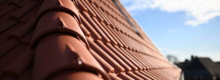 tiled roof in sunshine